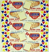 Vintage bread wrapper LARKIN KING SIZE PULLMAN Elizabethton Tennessee un... - $11.69
