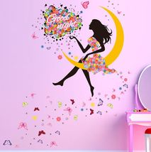 Fairy Woman Removable Good Night Wall Decoration Fairy Fantasy Decor - €11,48 EUR