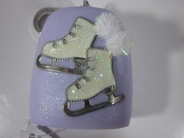 Bath & Body Works PocketBac Hand Sanitizer Holder purple Ice Skates Pom Pom - $29.99