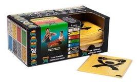CanDo Low Powder Exercise Band (box of 40) 4' length Yellow x-light for rehabili - $70.99