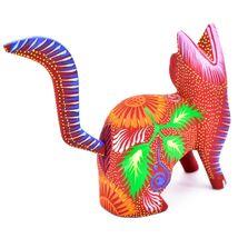 Handmade Alebrijes Oaxacan Copal Wood Carving Painted Cat Kitten Figurine image 3