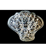 VTG IMPERIAL PRESSED CUT GLASS BOWL DISH BON BON CANDY NUTS LEAF DESIGN - $35.34