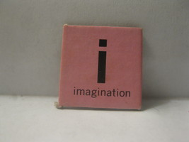 1968 Charades for Juniors Board Game Piece: Letter Square - i, Imagination - $1.00