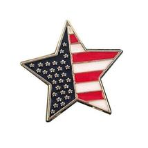 Set of 2 Retro Style Star Shape with Frag Pattern Alloy Parties Brooch