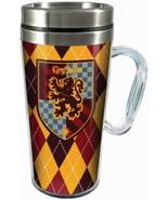 Harry Potter Gryffindor Crest Logo 16 oz Acrylic Travel Mug NEW UNUSED - $13.54