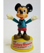 Vintage 1977 Mickey Walt Disney productions Gabriel push puppet toy Red ... - $10.80