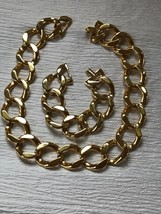 Estate Demi Simple But Classic Chunky Goldtone Open Curb Chain Link Neck... - $15.79