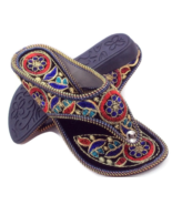 F181 Black flat Khussa  Embroidery Handmade Shoe/Juti/Mojari WOMENS Usa ... - $19.80