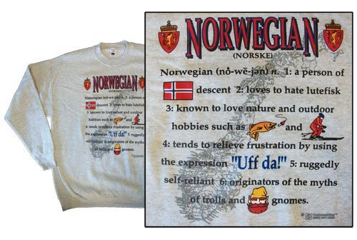Norway national definition sweatshirt 10256