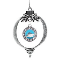 Inspired Silver Bon Voyage Cruise Ship Circle Holiday Christmas Tree Ornament Wi - $14.69