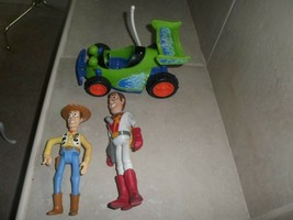 "lot of 3 Disney Toy Story Free Wheel  Race Car 8"",Space Woody, cowboy woody - $12.86"