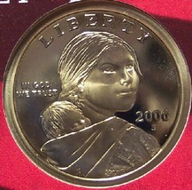 2006-S Deep Cameo Proof Sacagawea Dollar #0935 - $12.79