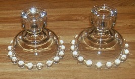 Vintage Imperial Glass Candlewick Candle Holders/Set Of TWO/Mint Condition - $21.99
