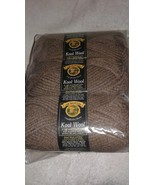 Lion Brand Yarn Kool Wool-DISCONTINUED-Camel Heather-6 skeins - $24.00