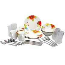 Gibson Rennes Verdant 28 Piece Dinnerware Combo Set in Floral Print - $62.11