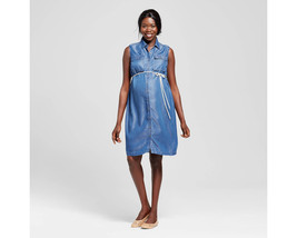 Maternity Sleeveless Shirt Dress - Liz Lange - $345,27 MXN
