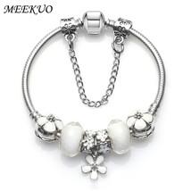 2017 Fashion Women Bracelet 925 Unique Silver Crystal Bead Charm Bracele... - $12.98