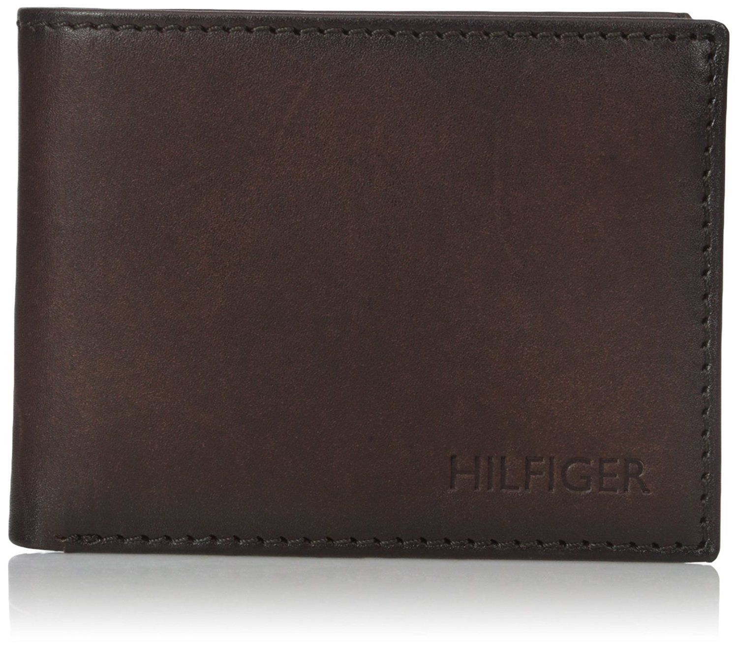 Tommy Hilfiger Men's Leather Credit Card Wallet Passcase Billfold 31TL22X005