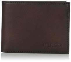 Tommy Hilfiger Men's Leather Credit Card Wallet Passcase Billfold 31TL22X005