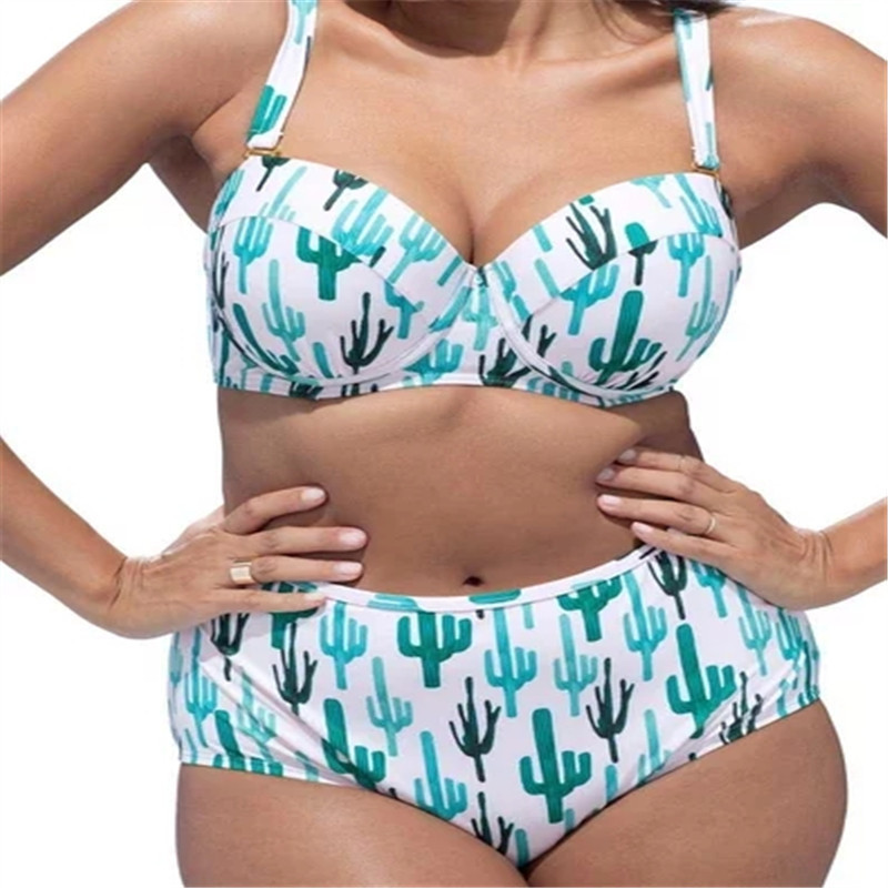Primary image for Women's Plus Size Underwire Push Up High Waist Two Pieces Bikini Set XL-4XL