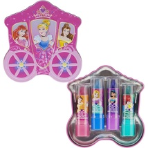 Disney Princess 4 Pack Lip Gloss with Carraige Inspired Storage Case - $43.27
