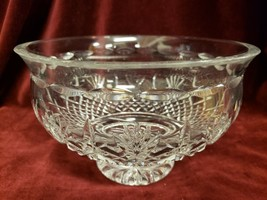 "Waterford Deep Cut Crystal Killarney Cut Fan Pattern 8"" Footed Bowl Signed - $98.99"