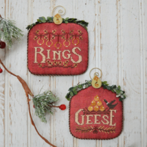 12 Days: Rings Geese cross stitch chart Hands On Design - $9.00
