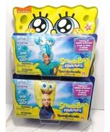 Spongebob Spongehead Costume Hat Inflatable Lot 2 spongebob & Squidward ... - $39.60