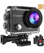Crosstour Action Camera 4K 16MP WiFi Underwater 30M with Remote Control ... - $44.14