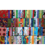 "2"" inch 100 Cotton Quilt Squares Set Q Scrap Fabric Quilting Sewing - $3.50"