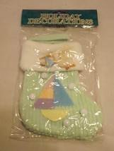 Commodore Fabric Ornament - NEW - Baby Green Christmas Stocking Ornament - $6.64