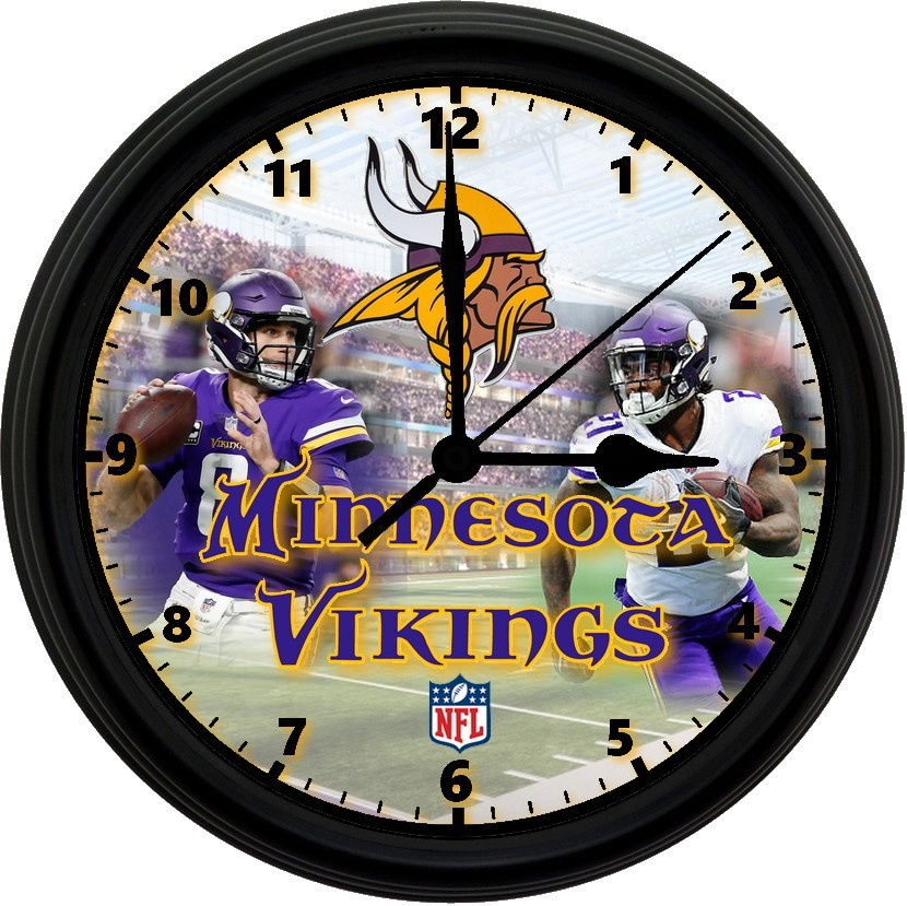 "Primary image for Minnesota Vikings Homemade 8"" NFL Wall Clock w/ Battery Included"