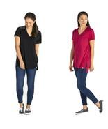 Life Is Good Women's Freestyle Wash Short Sleeve V-Neck Tunic, Medium - $39.99
