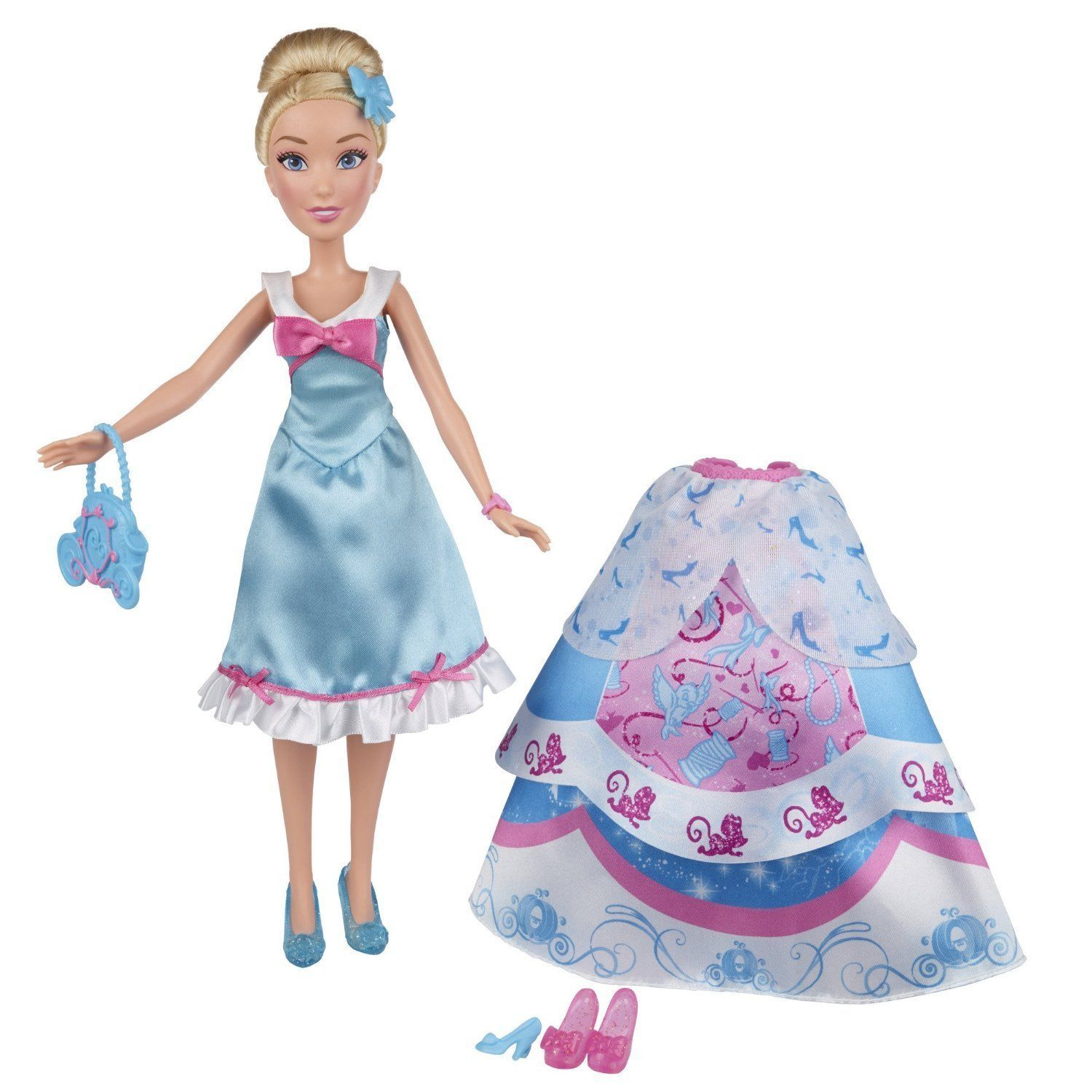Disney Princess Cinderella Layer n' Style Doll in Blue Pink by Hasbro