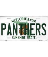 Panthers Florida State Background Metal License Plate Tag (Panthers) - $11.95