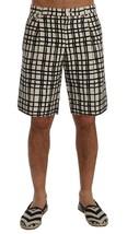 New $610 Dolce & Gabbana Men White Black Striped Casual Shorts It56-Xxl - $199.96