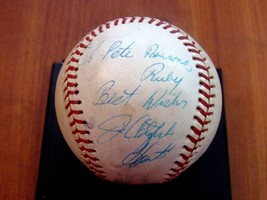 JIM CATFISH HUNTER YANKEES A'S HOF SIGNED AUTO GAME USED ERA OAL BASEBAL... - $217.79