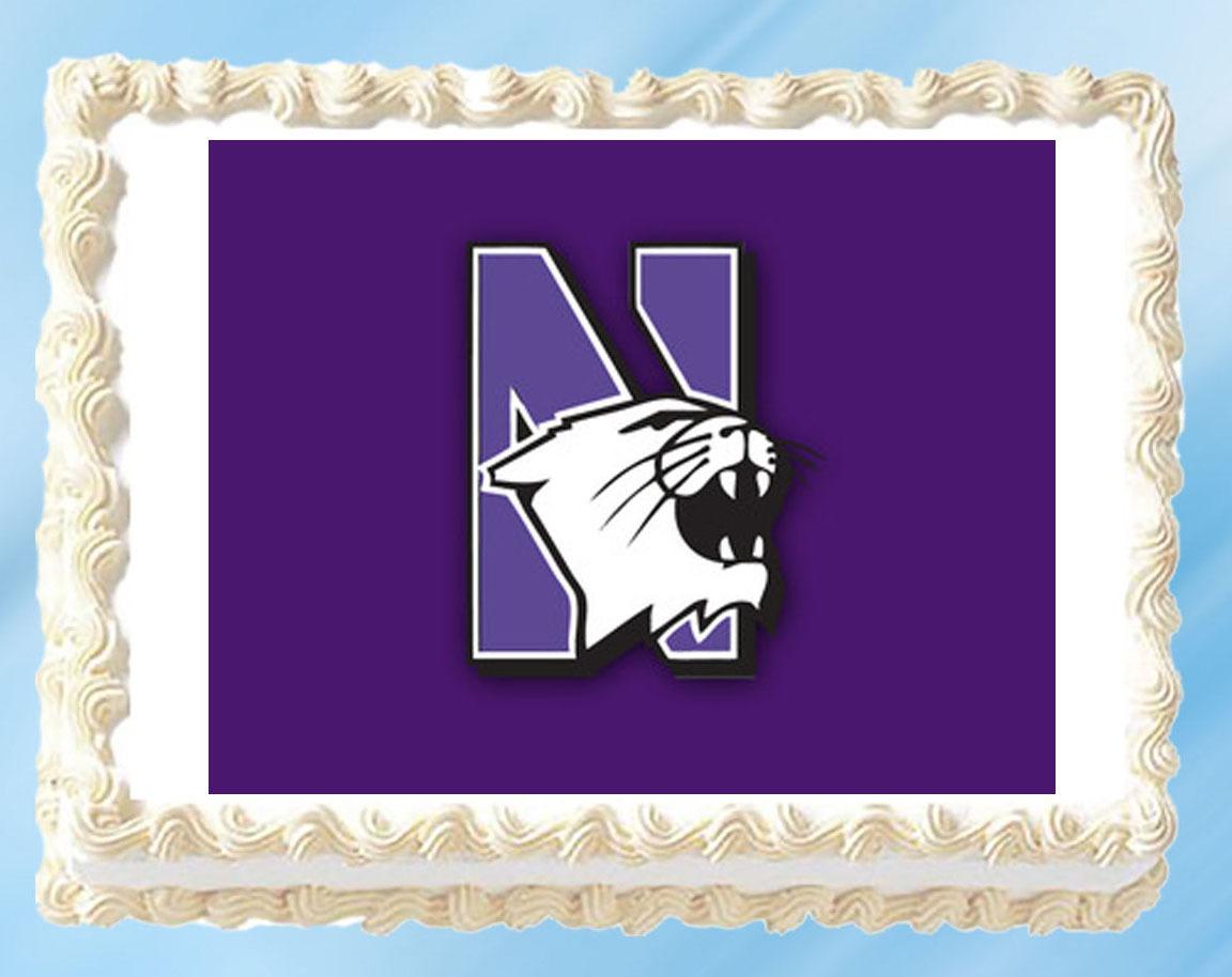 """Northwestern Edible Image Topper Cupcake Cake Frosting 1/4 Sheet 8.5 x 11"""" - $11.75"""