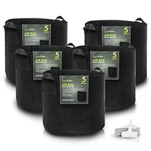5 Gallon Fabric Pot Garden Grow Bags 5 Pack by Greenthumbpro for Indoor,... - $12.79