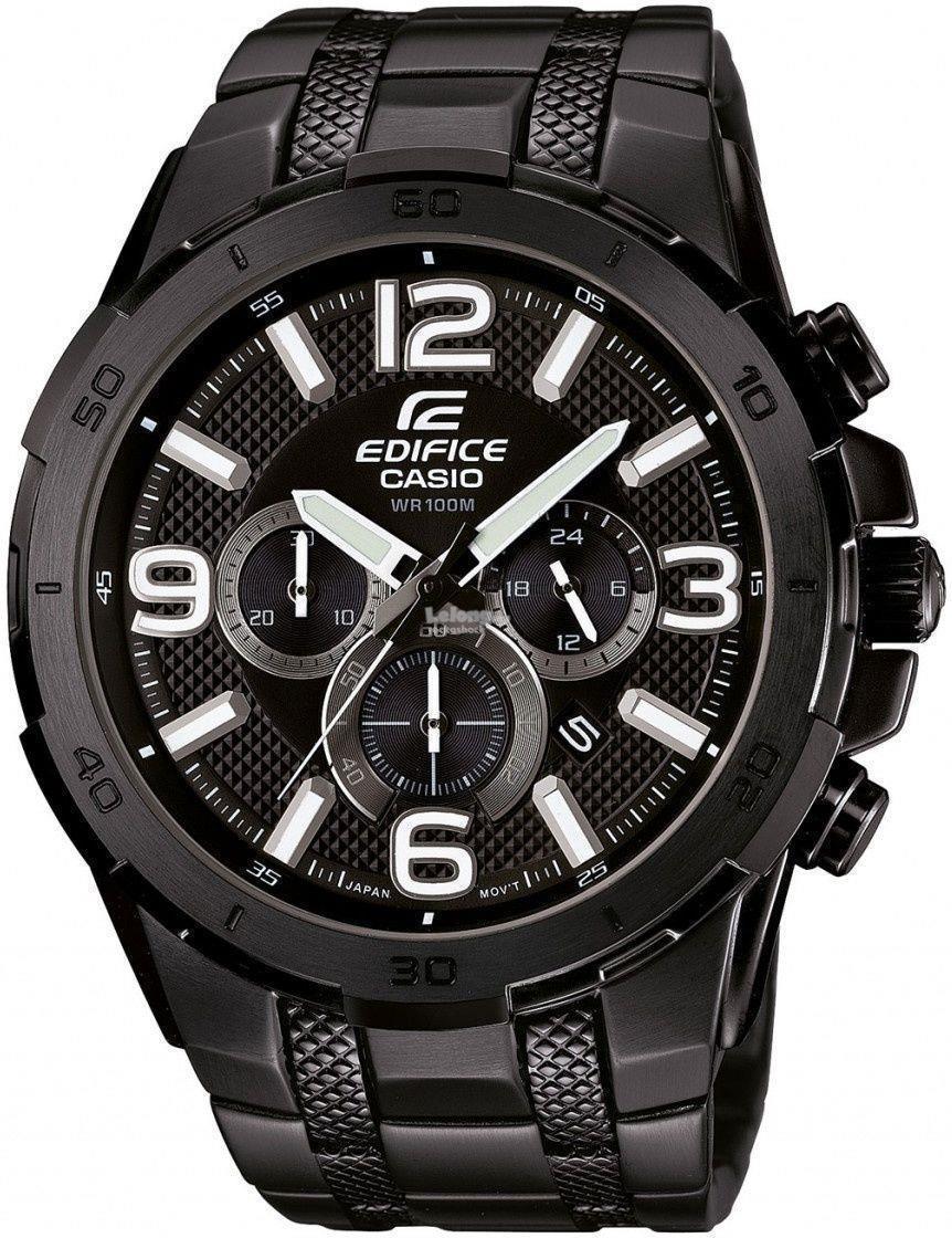 Casio Edifice Efr 540d 1avudf Free 539bkg 1av Mens Black Stainless Steel Chronograph Watch Efr538bk