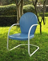 """New 1960""""s Grandma Grandpa style Griffith outdoor metal chair sky blue f... - €70,39 EUR"""