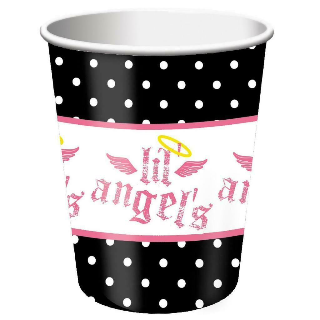 1st Little Lil' Angel 9 oz Paper Cups 8 Per Package Birthday Party Supplies New