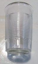 "Anchor Hocking 5 1/2""Extra Large Ribbed Manhatten Style Glass Tumbler 16oz - $12.99"