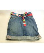 Gymboree Burst Of Spring 12 Floral Belted Sash Denim Mini Skirt Girls - $9.99