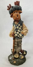 "Boyds Bears Folkstone Collection Ziggy, The Duffer 7.5"" Moose 4E/631 Clu... - $12.59"