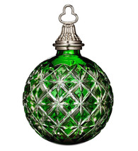 Waterford Emerald Green Cased Ball Ornament 2014 Annual #164579 New In Box - $148.90