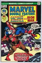 Marvel Double Feature #12 ORIGINAL Vintage 1975 Marvel Comics Captain Am... - $14.84