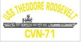 NAVY USS THEODORE ROOSEVELT CVN-71 MILITARY SHIP DECAL - $13.53