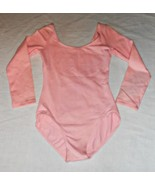 Bloch L6409 Pink Child Size 12/14 Long Sleeve Leotard (faded) - $9.99
