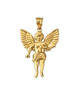 14K Yellow Gold Cherub Guardian Angel Pendant (Small/Large) - $164.99+